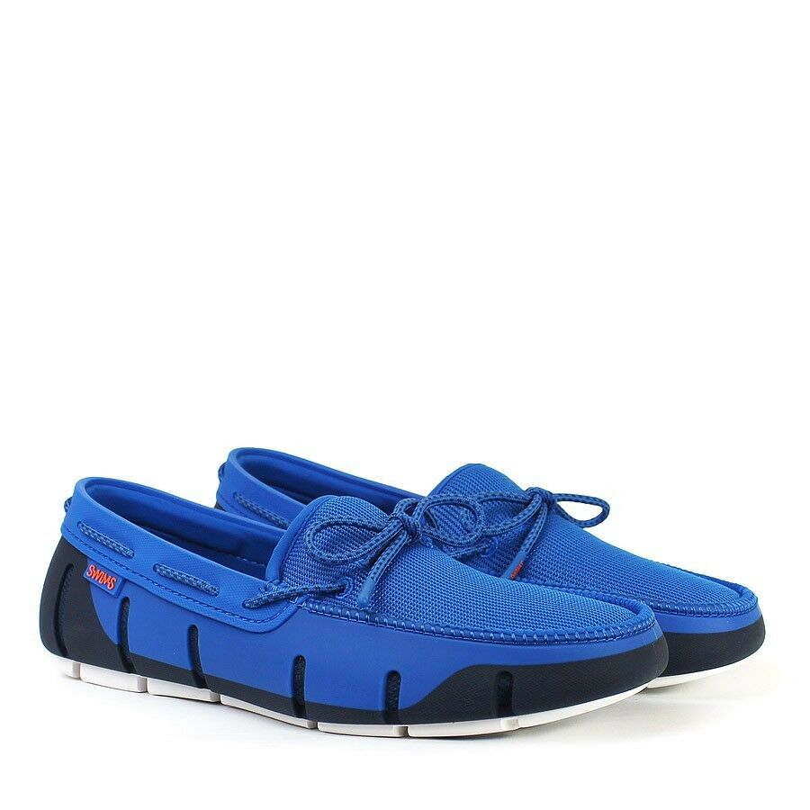 Swims - Blitz Stride Lace Loafer in Blitz - Blau/Navy/Weiß - Größe UK 7 - 3939b3