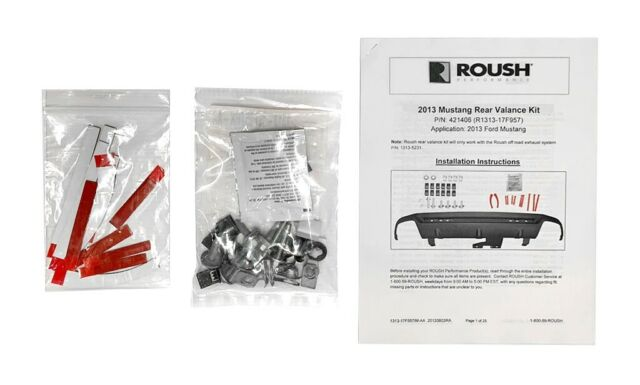 2013-2014 Mustang Roush Rear Lower Bumper Exhaust Valance Kit  421406