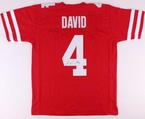 best cheap 8ef78 eec1b Details about Lavonte David Signed Red Nebraska Cornhuskers Jersey (JSA)  Bucs Linebacker