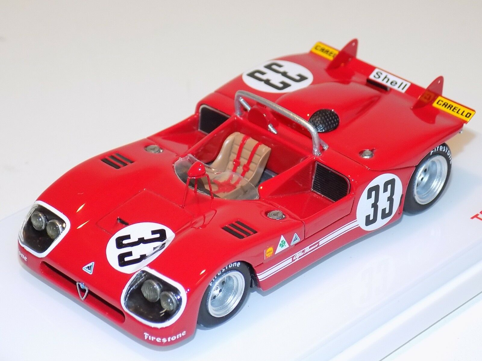 1 43 TRUE SCALE MODELS TSM Alfa Romeo Tipo 33 3 2nd Place 1971 Sebring TSM144311