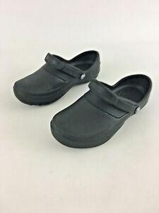 Crocs Womens Black Rubber Solid Slip On