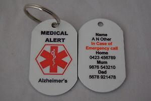 Personalised-Medical-Alert-tag-keyring-for-Alzheimer-039-s