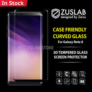 Galaxy Note 8 Case Friendly Zuslab tempered Glass Screen Protector for Samsung