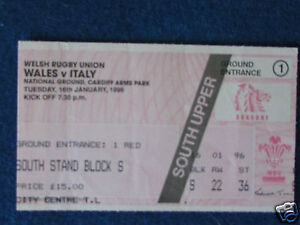 Rugby Union International Ticket  Wales v Italy  16196 - Dawlish, Devon, United Kingdom - Rugby Union International Ticket  Wales v Italy  16196 - Dawlish, Devon, United Kingdom