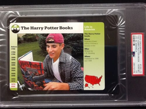 PSA Gem Mint 10. Harry Potter Books J.K. Rowling Grolier #1325