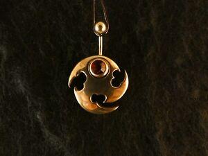 Piercing-24-Karat-Gold-Anhaenger-925-Silber-Tribal-Bauchnabel-Stein-Hellrot