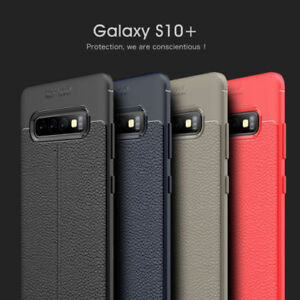For Samsung Galaxy S10 Plus Lite Ultra Slim Leather Rubber Shockproof Case Cover Ebay