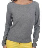 Balldiri 100% Cashmere Kaschmir Damen Pullover Rundhals 2-fädig grau M