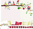 Owl Tree Branch Art Decal Removable wall Stickers kids room Nursery Decor