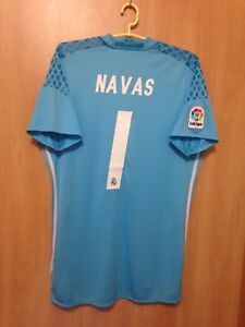 finest selection bbf07 027bf Details about REAL MADRID SPAIN 2016/2017 GK FOOTBALL SHIRT JERSEY CAMISETA  KEYLOR NAVAS #1