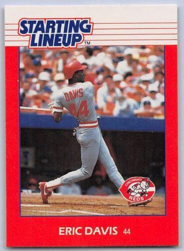 Kenner Starting Lineup Card CINCINNATI REDS 1988  ERIC DAVIS