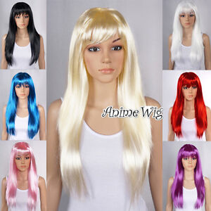 8-Colors-60CM-Long-Straight-Lolita-Party-Wig-Cosplay-Fancy-Christmas-Costume