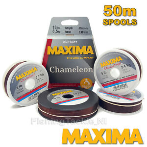 Maxima-Chameleon-Ligne-de-peche-Hi-de-traction-Monofilament-2lb-30lb-bobines-de-50-m