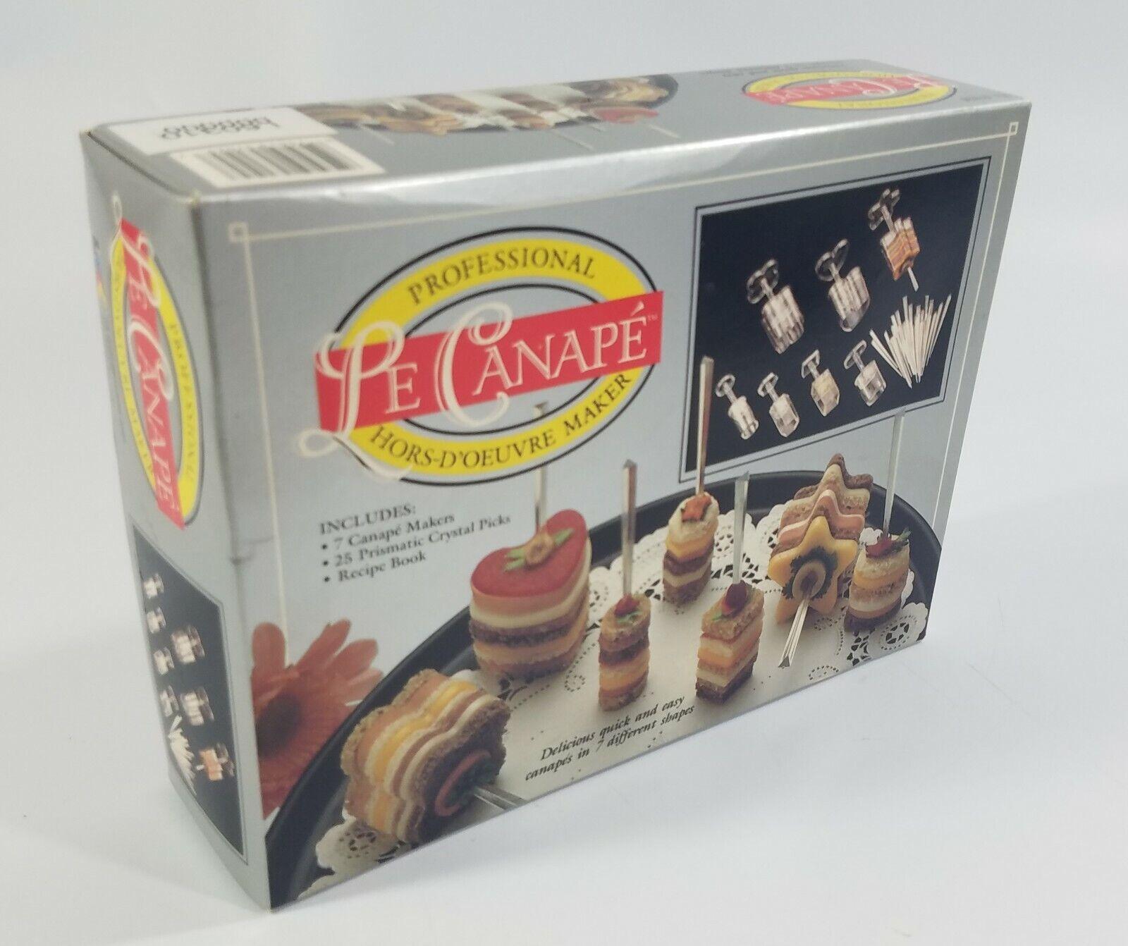 Le Canape Professional Hors D/'Oeuvre Maker New Vintage 1991 Set