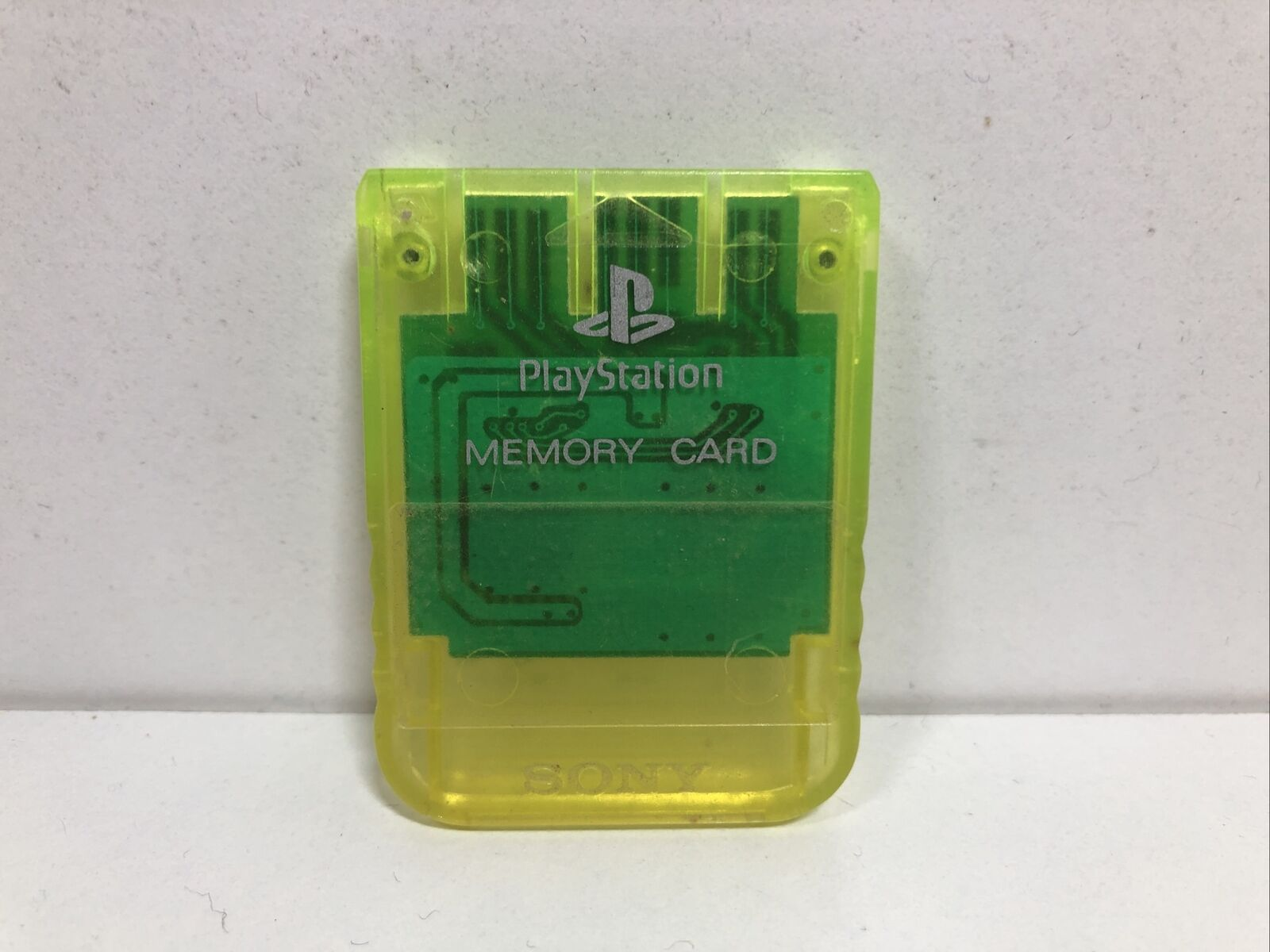 Sony Playstation 1 Crystal Light Yellow Memory Card Tested