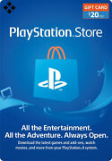 $20 USD PlayStation Network Store Card - PSN 20 US Dollar Prepaid Code - USA