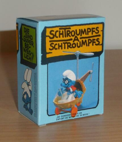 Schtroumpf Schleich BOITE 40233 HELICOPTERE Smurf Puffi Pitufo Schlumpf