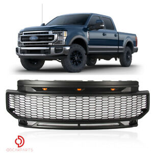 Fits Ford F250 F350 2020-2021 Front Upper Grille Mesh Style Grille Matte Black