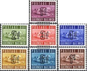 GB-Guernsey-P1-P7-kompl-Ausg-postfrisch-1969-Portomarken