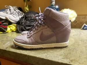 595a20bc7ab Nike Dunk Sky Hi TXT Purple (644410-500) Hidden Wedge Sneakers Women ...