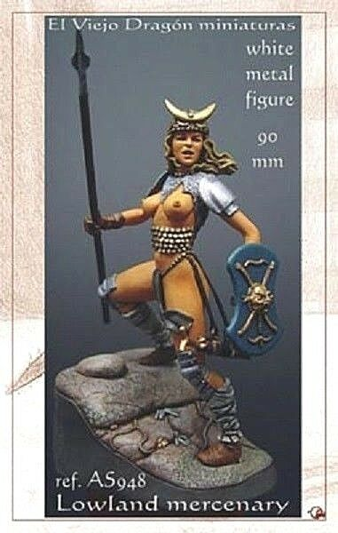 LA MERCENAIRE, Figurines érediques EL VIEJO DRAGON 1 20 - 90 mm - Réf. AS9-48