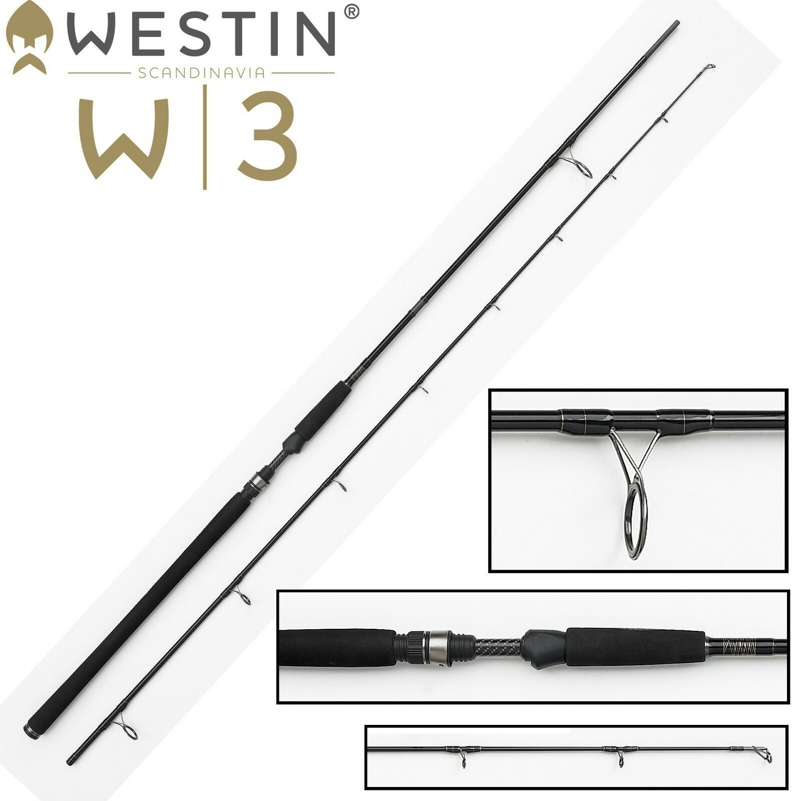 Westin W3 Powercast 278cm XXH 40-130g Spinnrute Blinkerrute für Hecht & Zander