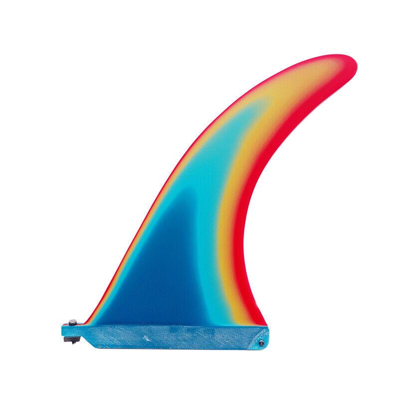 New Fins - 9.7   - Multi Colour - Longboard Fin - SUP Surfboard - Surf  Fins