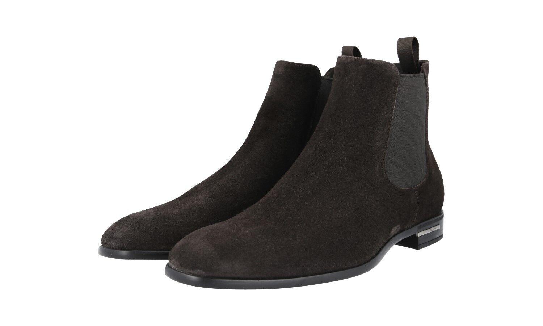 Auténtico De Lujo PRADA Half-Zapatos Bota 2TC028 marrón nuevo nos 7