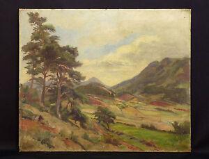 Maurice-Desevre-1887-1937-Landschaft-Berg-1928-Alpen-Landschaft-Berg