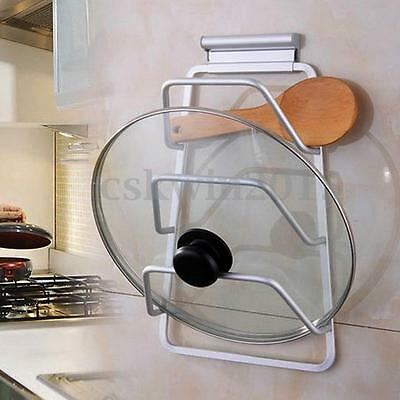 Kitchen Space Saver Cabinet Door Mount Pot Pan Lid Holder Rack Organizer Storage
