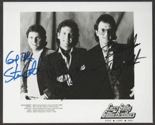 GATLIN BROTHERS Signed VINTAGE 8 x 10 Photo Autograph AUTO COA Larry Steve Rudy