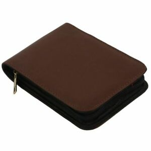 Papeleria-sostenedor-estuche-carpeta-cuero-marron-rodillo-pluma-fuente-para-E9Z1