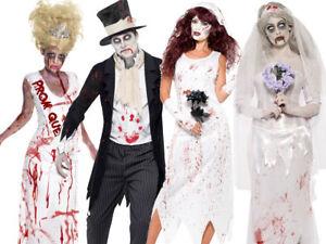 Mens Bloody Hands Suit Halloween Zombie Groom Fancy Dress Outfit