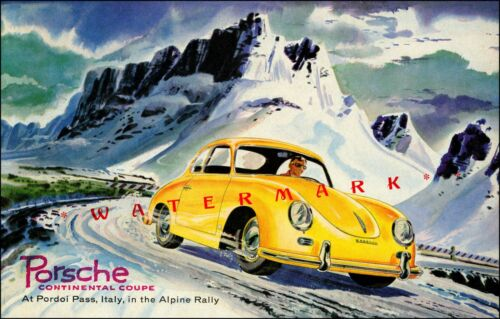 Continental Coupe Alpine Rally Italy Vintage Poster Print Classic Car