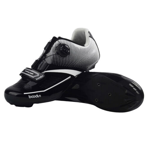 Men Mountain MTB Spin Cycling Shoe Road Bike Sneaker with Quick Lace Black