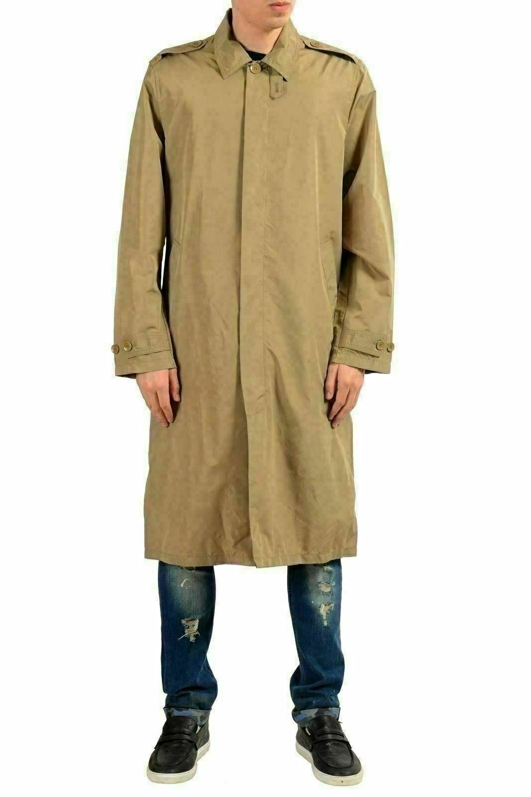 Kenneth Cole New York Men's Beige Button Up Trench Coat Size L
