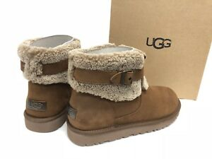 39e02d157fa Details about UGG Australia JOCELIN Shearling Buckle Espresso Brown Ankle  Boots 1003187