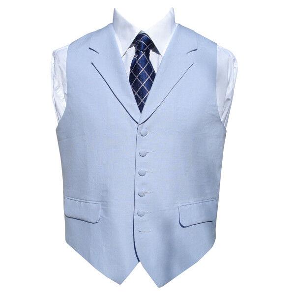 Irish Linen Waistcoat in Powder bluee 48