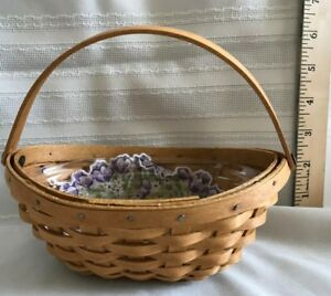LONGABERGER-LITTLE-Crocus-Basket-Liner-and-Protector-2002-New-Lower-Price