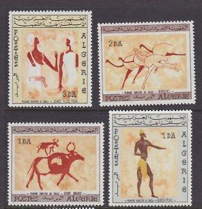 ALGERIA 1966 MINT H SC #344-47 TRADITIONAL ART CAT $30.50