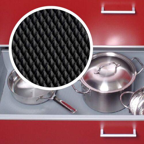 Antirutschmatte Schubladeneinlage Küche schwarz Meterware Waben Breite 473mm