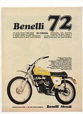 Pubblicità epoca 1972 BENELLI 50 CROSS MOTOR MOTO advertising werbung reklame