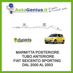 MARMITTA-SILENZIATORE-POSTERIORE-TUBO-ANTERIORE-FIAT-SEICENTO-1-1-SPORTING