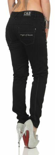 Cipo Slim Jeans Nombreux Détails Pour Fit Femmes Avec Wd332 Baxx De Noir 66RqBrg