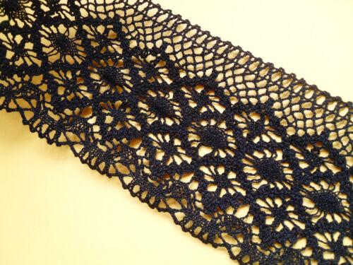Cotton Lace BLACK  Cluny Premium Nottingham 11cm Craft//Costume//Goth