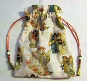 Angels-Tarot-Card-Drawstring-Mojo-Bag-Cotton-Pouch-FREE-SHIPPING