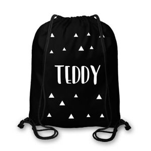 5109dfaab0aa Image is loading Personalised-Drawstring-Bag-Gym-Cotton-School-Kids-Sport-