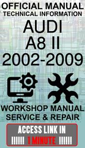 #ACCESS LINK OFFICIAL WORKSHOP MANUAL SERVICE /& REPAIR AUDI A8 II 2002-2009