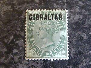 GIBRALTAR-POSTAGE-STAMP-SG1-1-2D-DULL-GREEN-1886-LIGHTLY-MOUNTED-MINT
