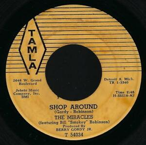 a80ac2e04d84 The Miracles Shop Around   Who s Lovin You 45 Motown Soul R B Tamla ...